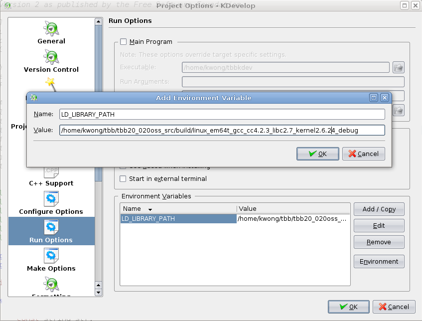 Kerry D  Wong » Blog Archive » Develop TBB Using KDevelop and Code