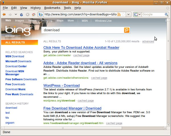 "Bing Search Result on ""Download"""