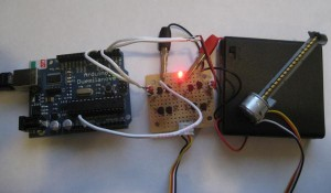 A CD-ROM stepper motor driven by Arduino