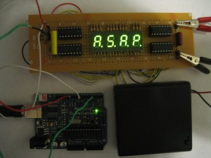 The display in action (showing A.S.A.P.)