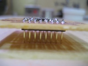 Finished LTS3LV02DL breakout board with male headers