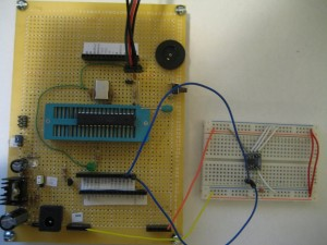 DS7505 connected to a customized Arduino board