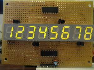 8-Digit 7 Segment Display