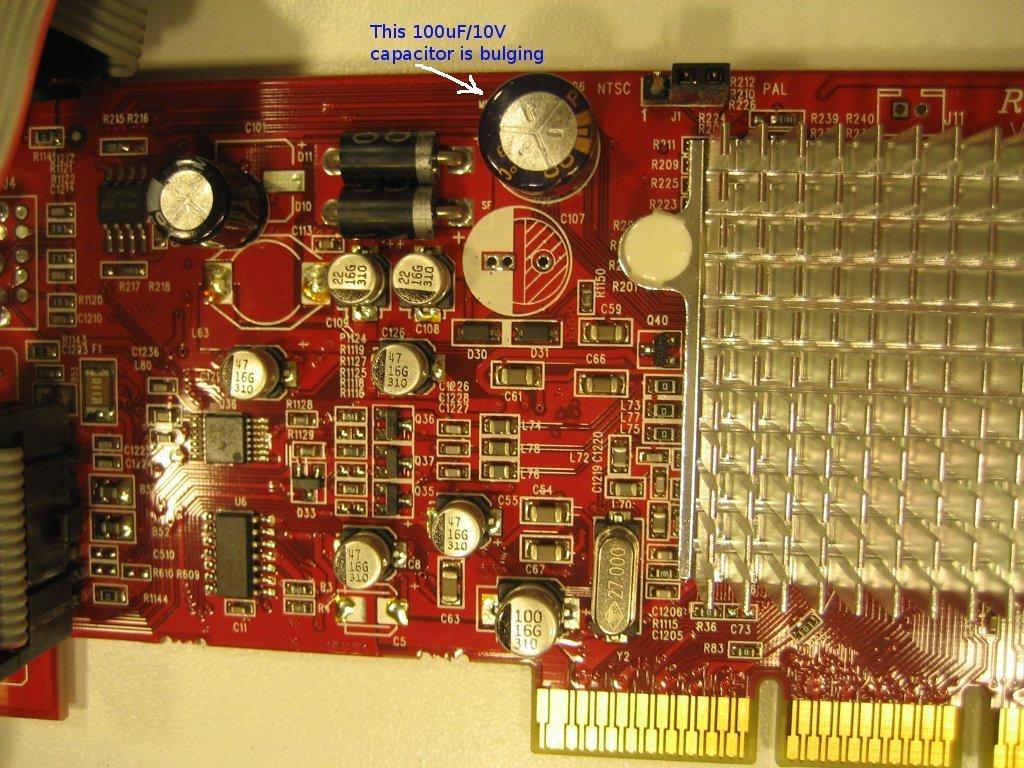 Capacitor Failure On Radeon 9200 SE