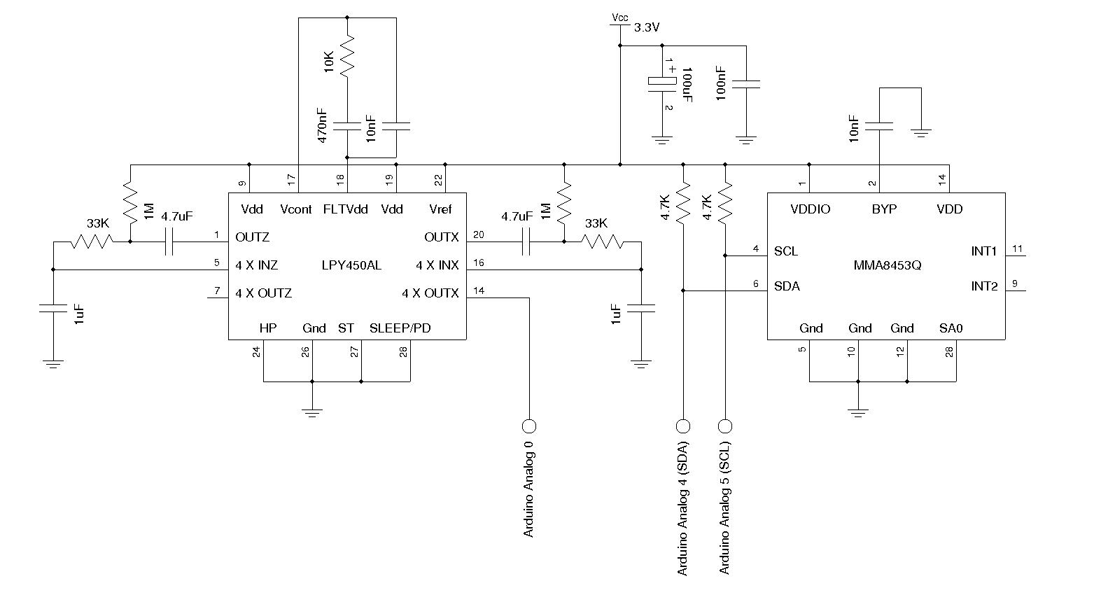 Kerry D Wong Blog Archive A Self Balancing Robot Ii Accelerometer Sensor Schematic Diagram Gyroscope