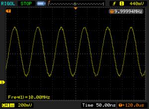 Sine output (10 MHz)