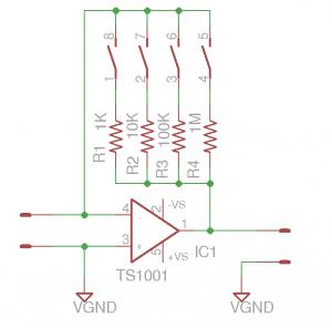 TS1001 Ammeter Circuit