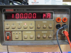 100uA measured on a Keithley 196
