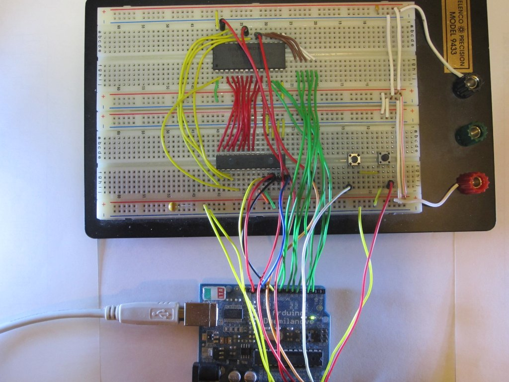Kerry D Wong Blog Archive Backup And Flash Firmware Using Arduino 8085 Projects A Digital Timer Circuit Ne555 Finally Here Is Picture Of The Breadboard Setup Memory Chip Used An Fram Fm1608