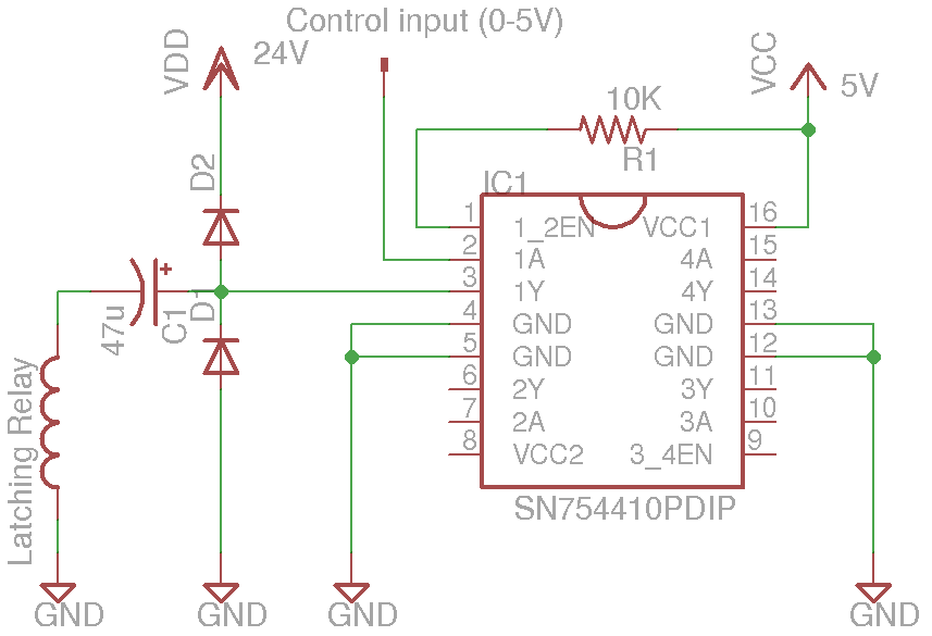 Kerry D Wong Blog Archive How to Drive a Latching Relay