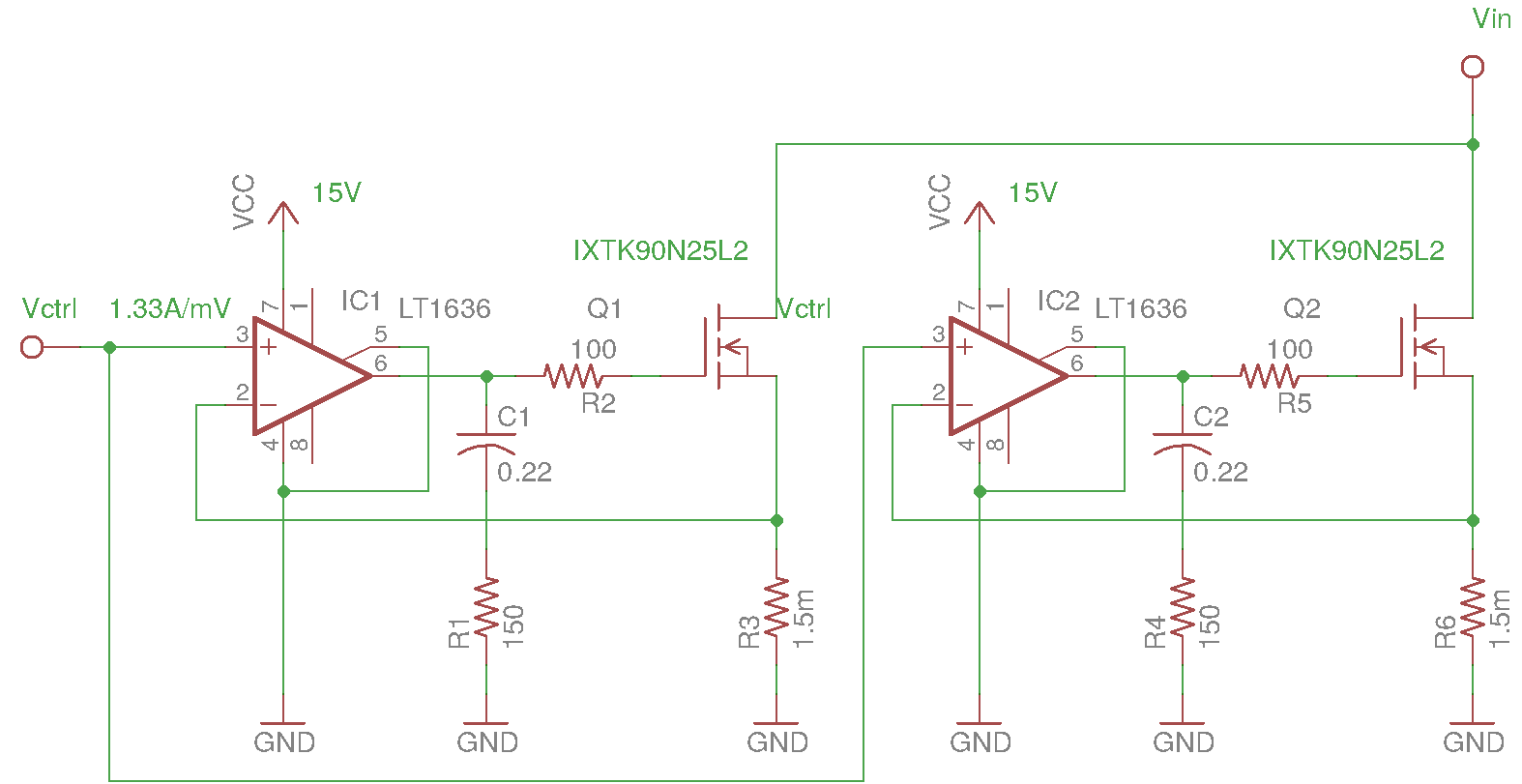 Can Someone Explain This Dc Load Circuit Page 1 How To Design Change The Gain Without Changing Value Of Shunt Resistors Also Im Still Not Clear On Exactly What C1 Does Would Behave