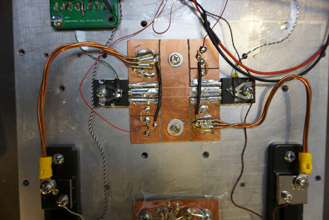Kerry D Wong Blog Archive A 400w 1kw Peak 100a Electronic Electroniccircuitsblogspotcom 2012 04 Temperaturesensorcircuit Thermistor Which Controls The Cooling Fans Is Clamped Onto Each Mosfets Surface If You Are Interested In Dual Sensor Fan Controller Can Take