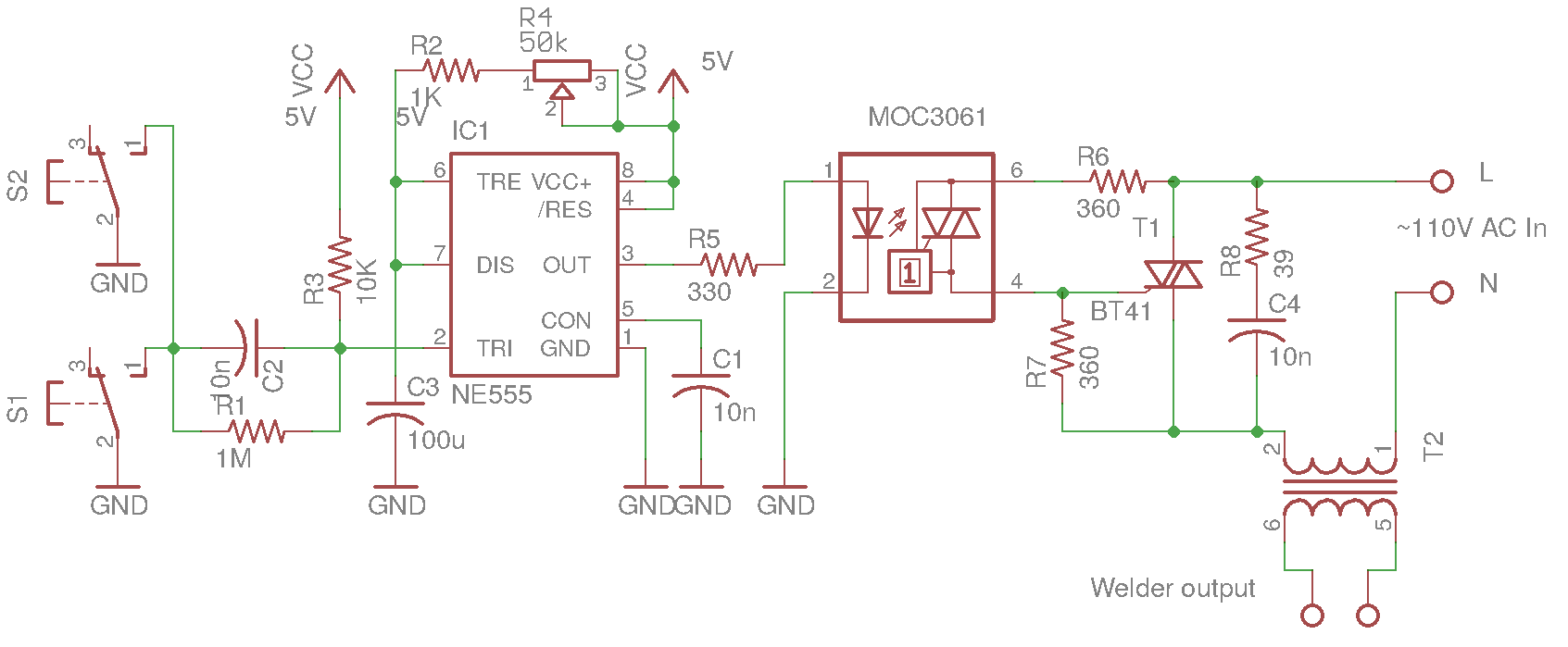 Schematic Diagram Of Timer 555 Wiring Master Blogs Internal Circuit Monostable Ic Kerry D Wong U00bb Blog Archive Dual Purpose Spot Welder Block