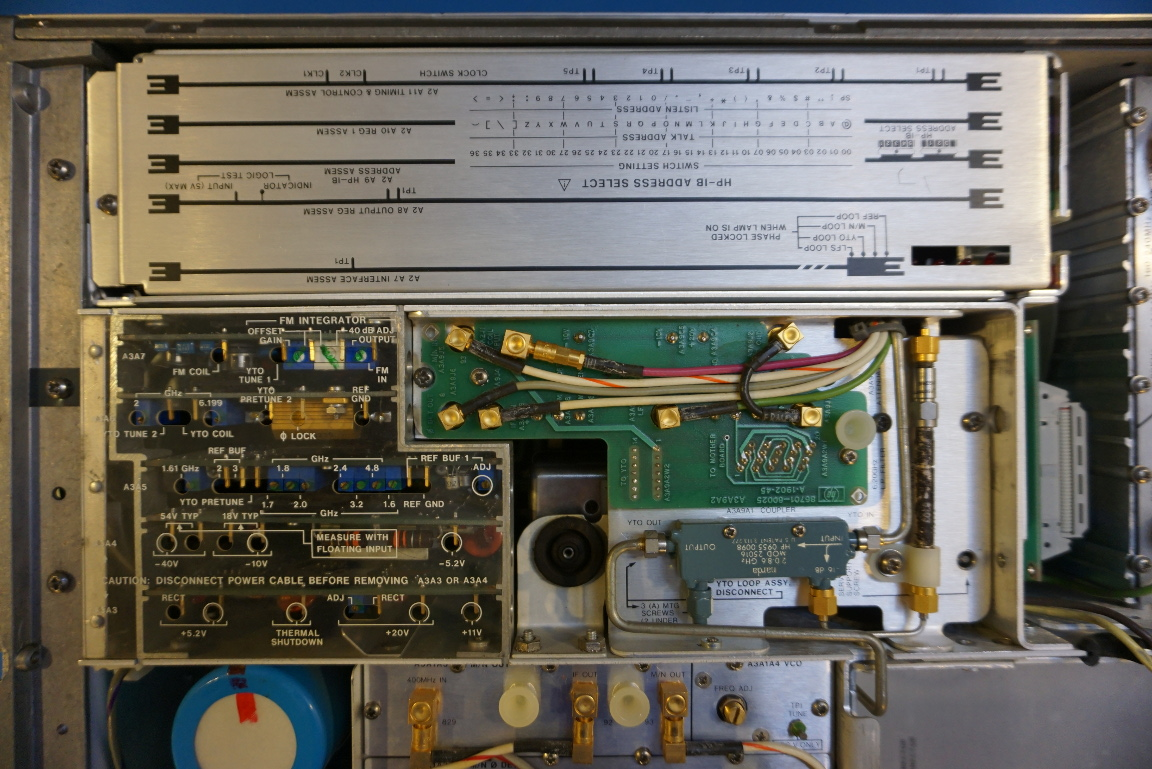 Kerry D Wong Blog Archive Teardown Of An Hp 8671a Microwave The Test Boards Used To Createthe Crystaloscillator Circuit Plugin Are Removed One By From Bottom Top First Is A2a7 Interface Assembly Four Led Indicators On Indicate Whether