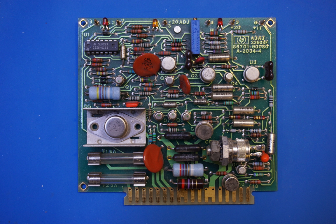 Kerry D Wong Blog Archive Teardown Of An Hp 8671a Microwave Instrument Cluster Circuit Board It Is Bolted To The Positive Regulator Employees A Crowbar Overvoltage Projection Here Picture Closeup Scr That Serves As In