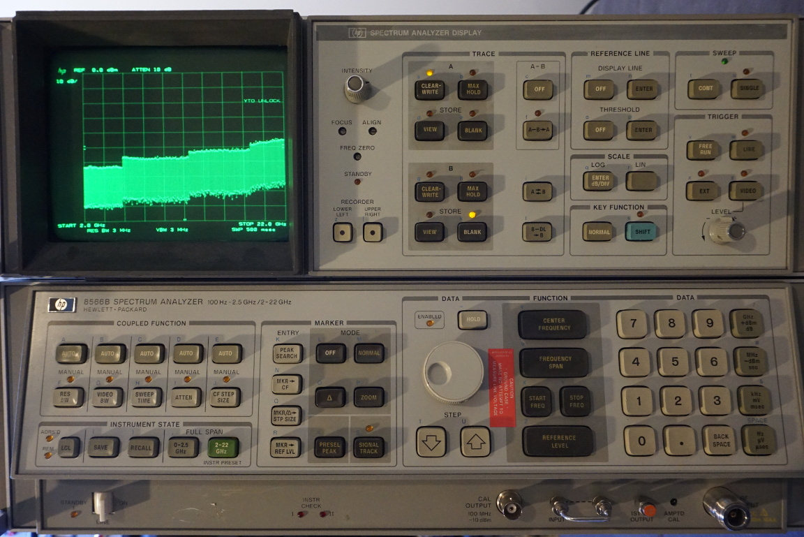Kerry D Wong Blog Archive Hp 8566b Spectrum Analyzer Yto Circuits 8085 Projects Analog Oscilloscope Circuit I Know That Proper Repair Is Long Due But Because The So Heavy Especially With Both If Display And Rf Section Linked Together