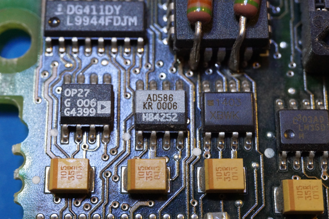 Kerry D Wong Blog Archive Inside An Agilent 66312a Two Quadrant 20v Ultra Precision Op Amps The Reference Used Here Is Ad586 High 5v Kr Version Has A Maximum 5 Mv Initial Error And 15 Ppm C Temperature